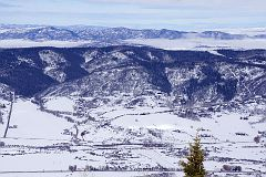 Well-zoomed view of Yampa River valley from the picnic area