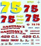 Butch Hartman Hartman's White-Autocar Dodge Daytona  Unknown Decal Maker  500