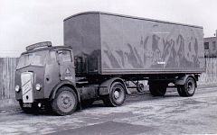 CAW969   ERF  no. 31G338 (?) of Shrewsbury Group with trailer of 32G Wellington Group