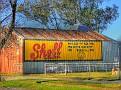 Cumnock Garage Old Shell Sign
