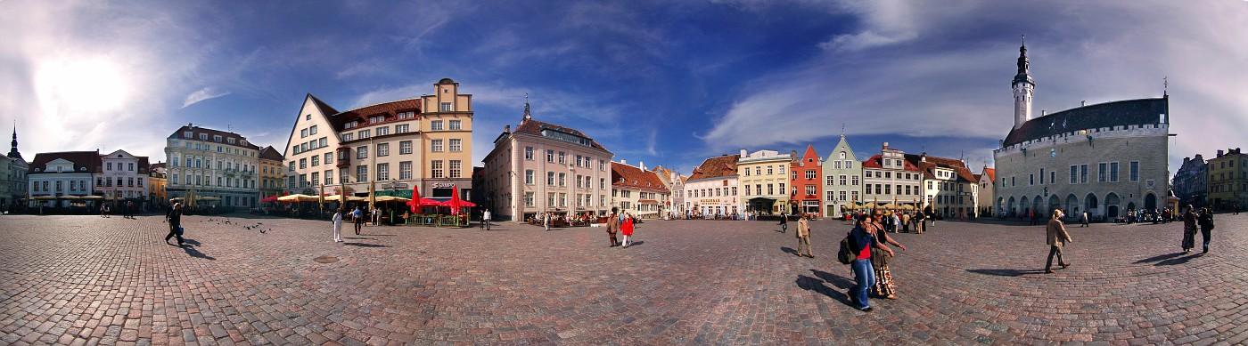 Old Town square. Tallinn. 360 deg. panorama