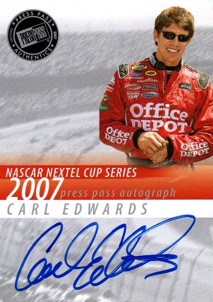 2007 Press Pass Autograph Carl Edwards (1)