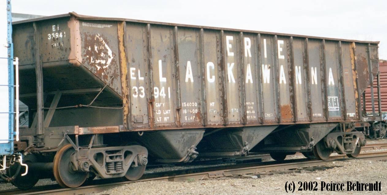 77-ton Hopper, Erie Lackawanna 33491
