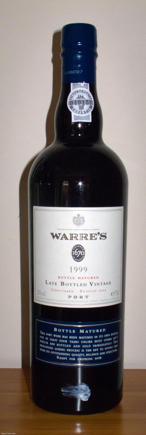 Warre Porto Bottle Matured Late Bottled Vintage 1999