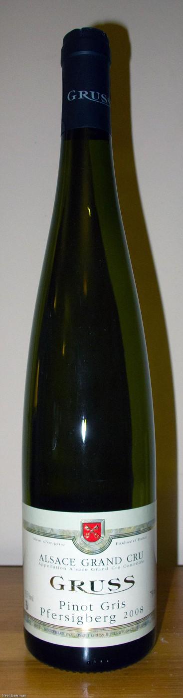 Joseph Gruss & Fils Pinot Gris Pfersigberg Grand Cru 2008