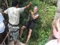 Rappeling near Coba with a Tour outfit in Quintana Roo, Mexico.