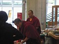 Visiting Monks at the Ft. Lauderdale, Florida Library selling novelties.
