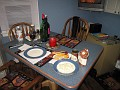 """Setting the Table for Myself and Preparations for my """"Haggis"""" dinner!!!"""
