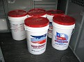 The Grape Juice comes in 6 gallon plastic buckets and is kept refrigerated until put into the demijohns.
