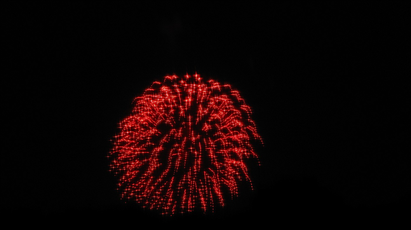 Fireworks as seen from Gillian and Ken's lookout in the top of their house.
