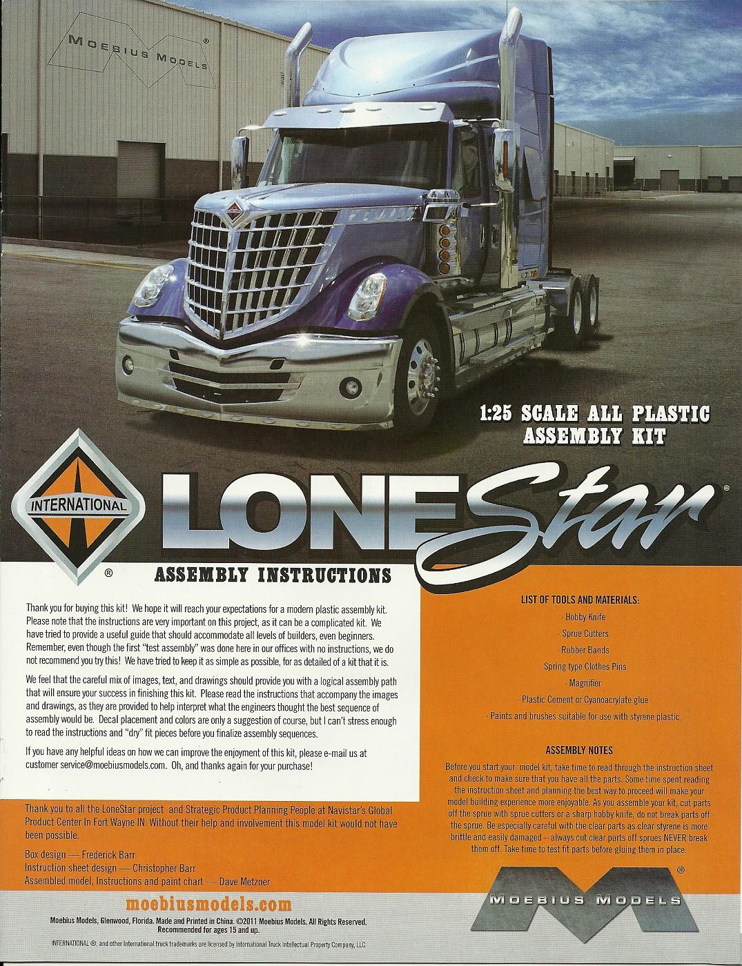 MOEBIUS International Lonestar # album | DRASTIC PLASTICS MODEL CAR