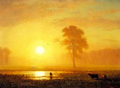 Sunset on the Plains [c.1859]