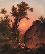 View from the Bluff, Sunset (undated)