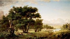 Indian Encampment along the Snake River [1871]