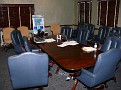 Conference room with 12 leather chairs