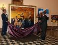 Painter Carl Craig, Mrs. Marie-Donald Manigat & Chairman Daniel Fils-Aime