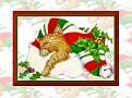 Kitten Santa Hat Wallpaper