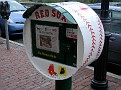 Kenmore Square's tribute to Red Sox (Boston Globe vending machine)