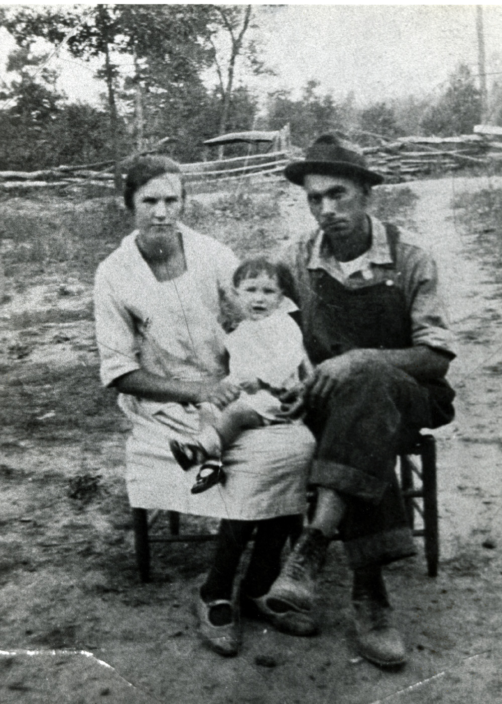 Mildred Hazel (FOUST) Lay, and her Parents