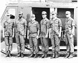 4-Col. Albert J. Fern, 3rd from left, and his crew, just before he returned back to the States.