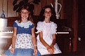 Sister, Amy Lawson age 9, and Melinda Lawson age 10 - July 1980.