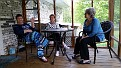 Christie, Jean, and Gail on our back porch.