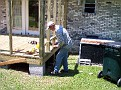E. Ray Austin. Building my back porch.