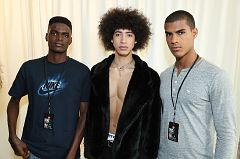 NEW YORK, NY - FEBRUARY 02: Models getting ready backstage at Loris Diran - NYFW: Men's at Skylight Clarkson North on February 2, 2017 in NYC.