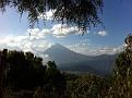 Volcano Agua over Antigua, Guatemala, as seen during my trek up Volcano Pacaya far away.