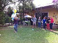 Break time at Zamora School.  Piñata Time, special for someone's birthday ;-)