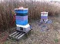 Preparing the Hives in preparation for Hurricane Sandy 1-2 days before...10-27-2012 a Saturday.