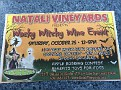 """After you are finished at the Harvest Fest in CMCH / stop on over to Natali Vineyards """"Wacky Witchy Wine Event""""!!!  Noon to 5:00."""