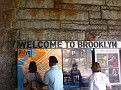 Entering the Brooklyn Bridge, Brooklyn, NY.