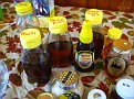 Honey from all over the world for free tasting.