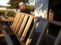 Sunday November 6, 2011.  Joe and I making a ladder and loft / bed for Madison :-)