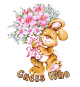 Guess Who - BunnyWithFlowers
