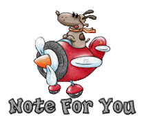 Note For You - DogFlyingPlane