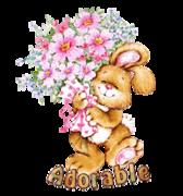 Adorable - BunnyWithFlowers