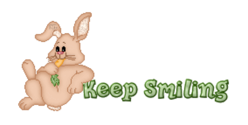 Keep Smiling - BunnyWithCarrot