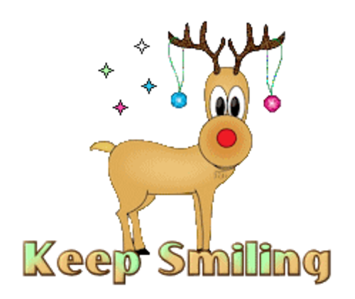 Keep Smiling - ChristmasReindeer