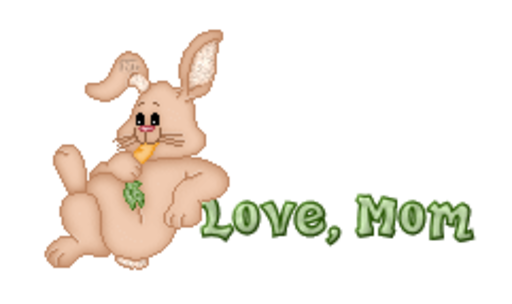 Love, Mom - BunnyWithCarrot