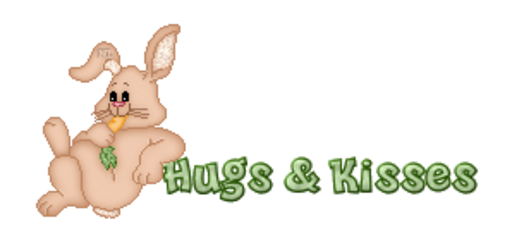 Hugs & Kisses - BunnyWithCarrot