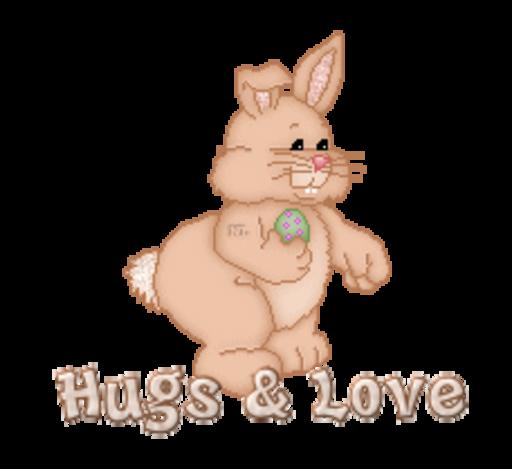 Hugs & Love - BunnyWithEgg