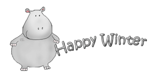 Happy Winter - CuteHippo2018