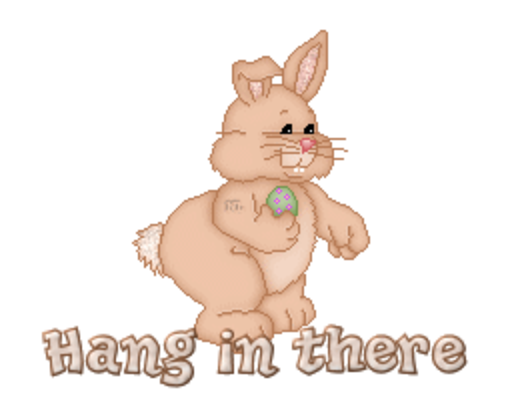 Hang in there - BunnyWithEgg