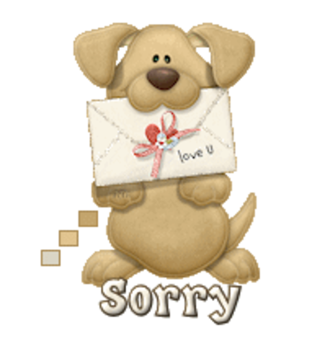 Sorry - PuppyLoveULetter
