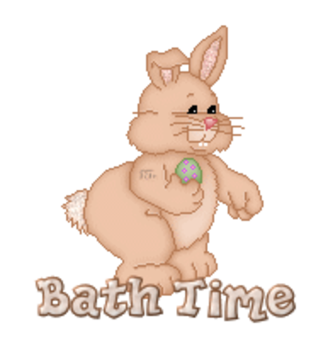 Bath Time - BunnyWithEgg