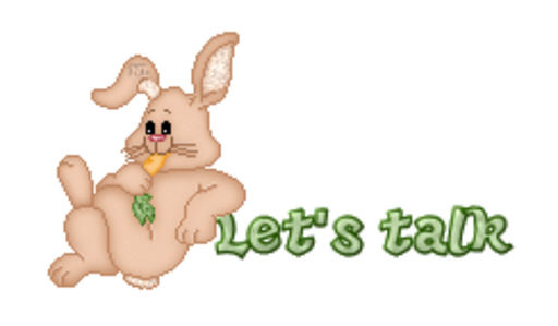 Let's talk - BunnyWithCarrot