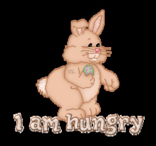 I am hungry - BunnyWithEgg