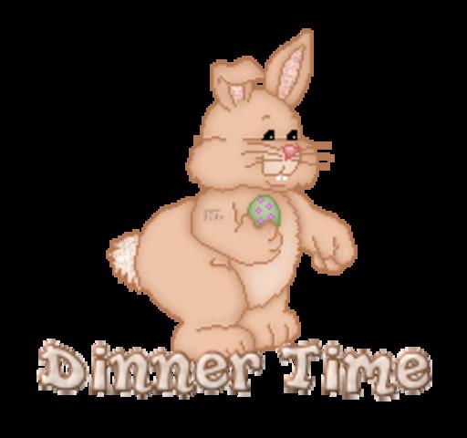 Dinner Time - BunnyWithEgg